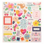 Pink Paislee - Go the Scenic Route -  12 X 12 Chipboard Stickers (369775)